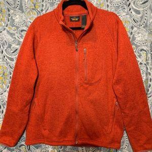 ORVIS Men's Large Orange Fleece Zip Up